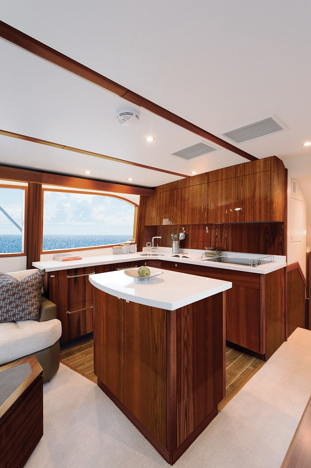 Hatteras GT54 Galley Dark