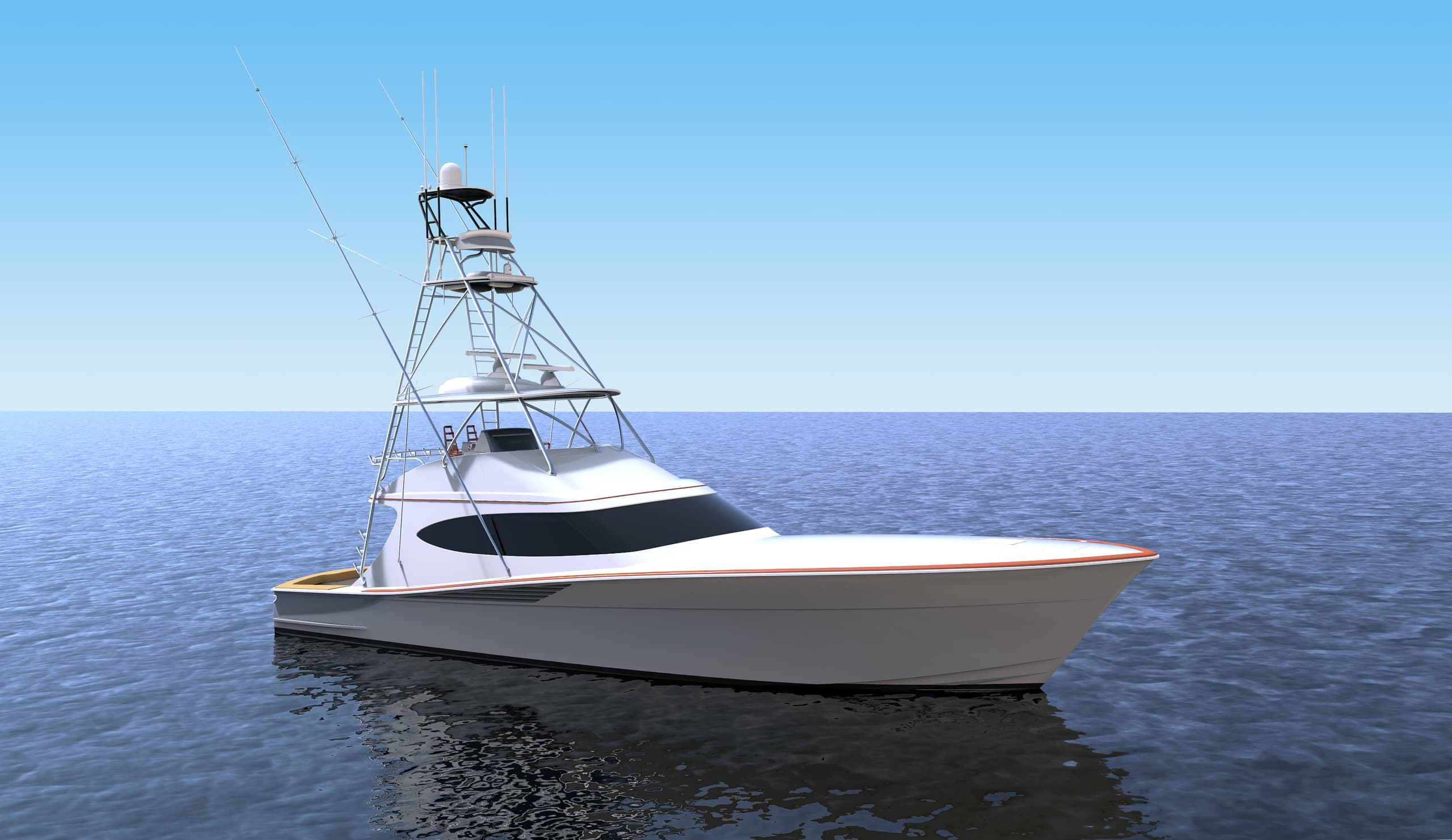 Hatteras GT65 Carolina Bow Rendering