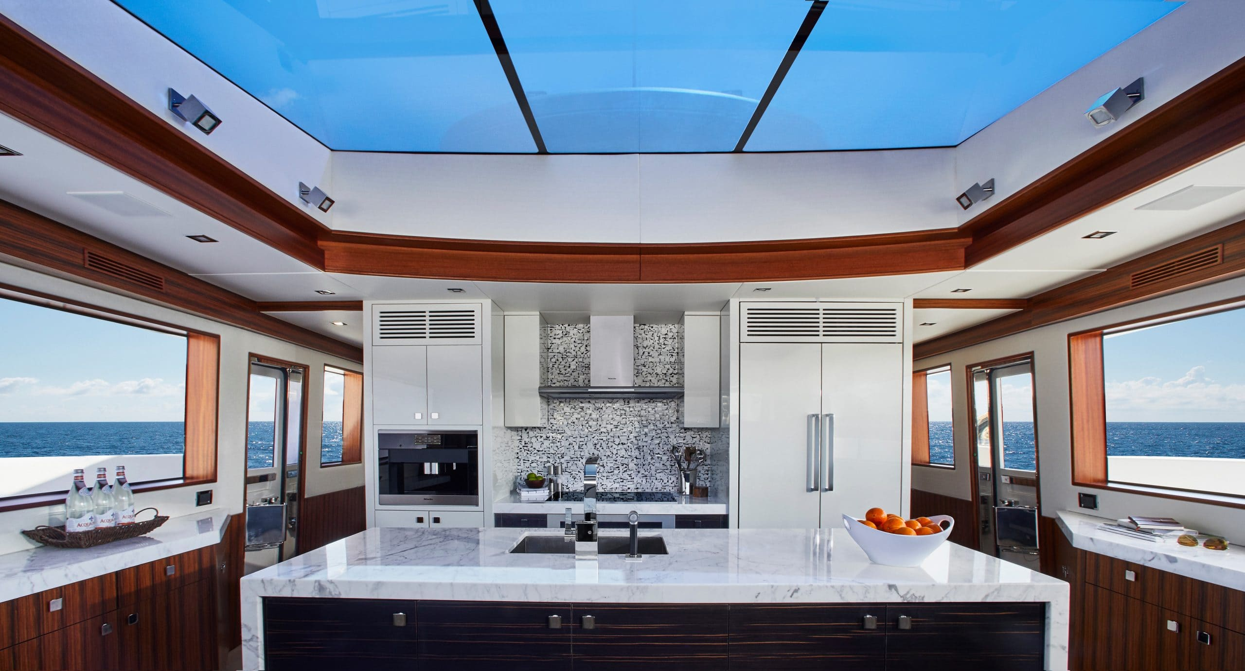 Hatteras M90 Panacera Galley With Sky Light