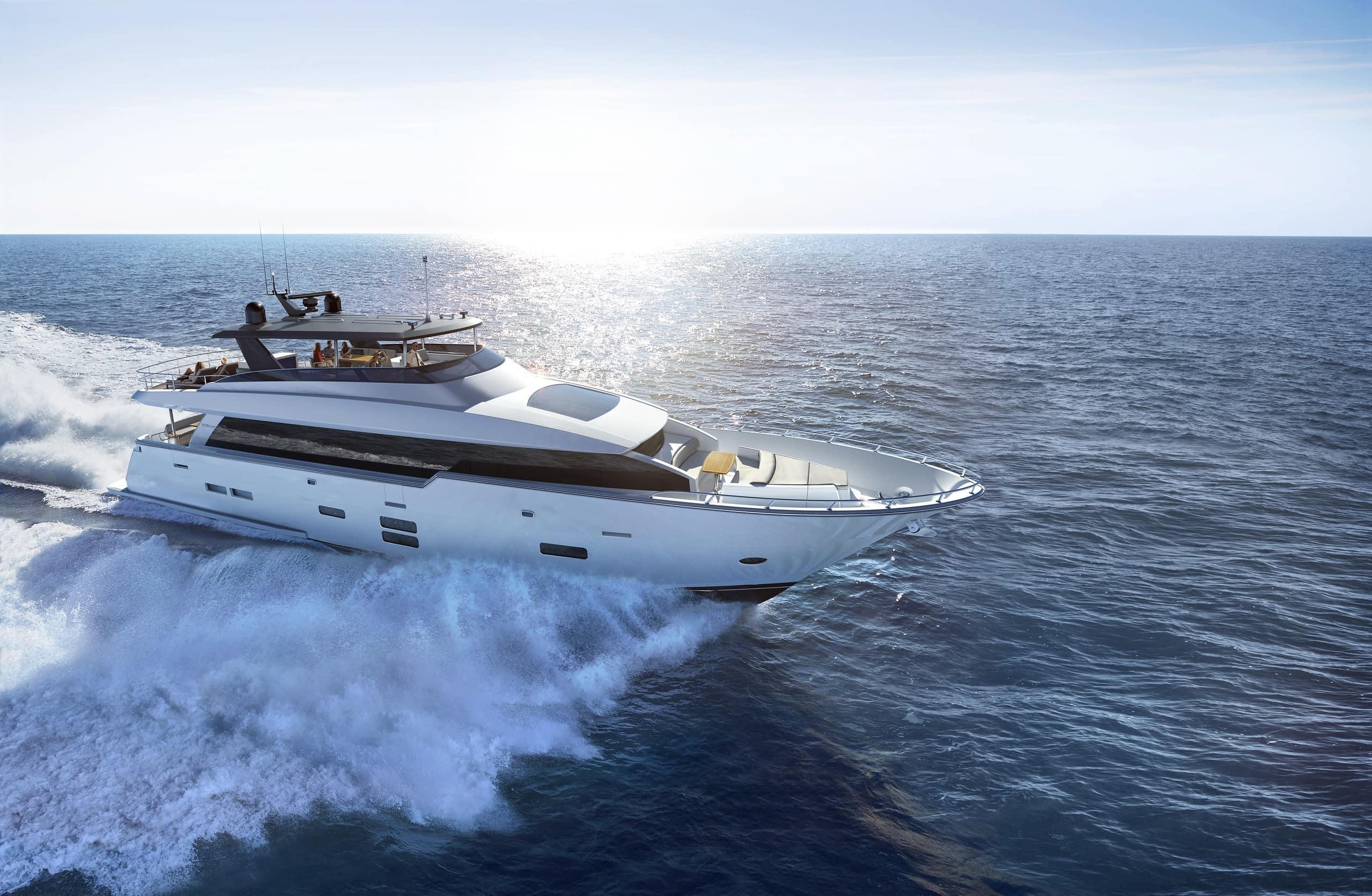 Hatteras M90 Panacera Starboard Running