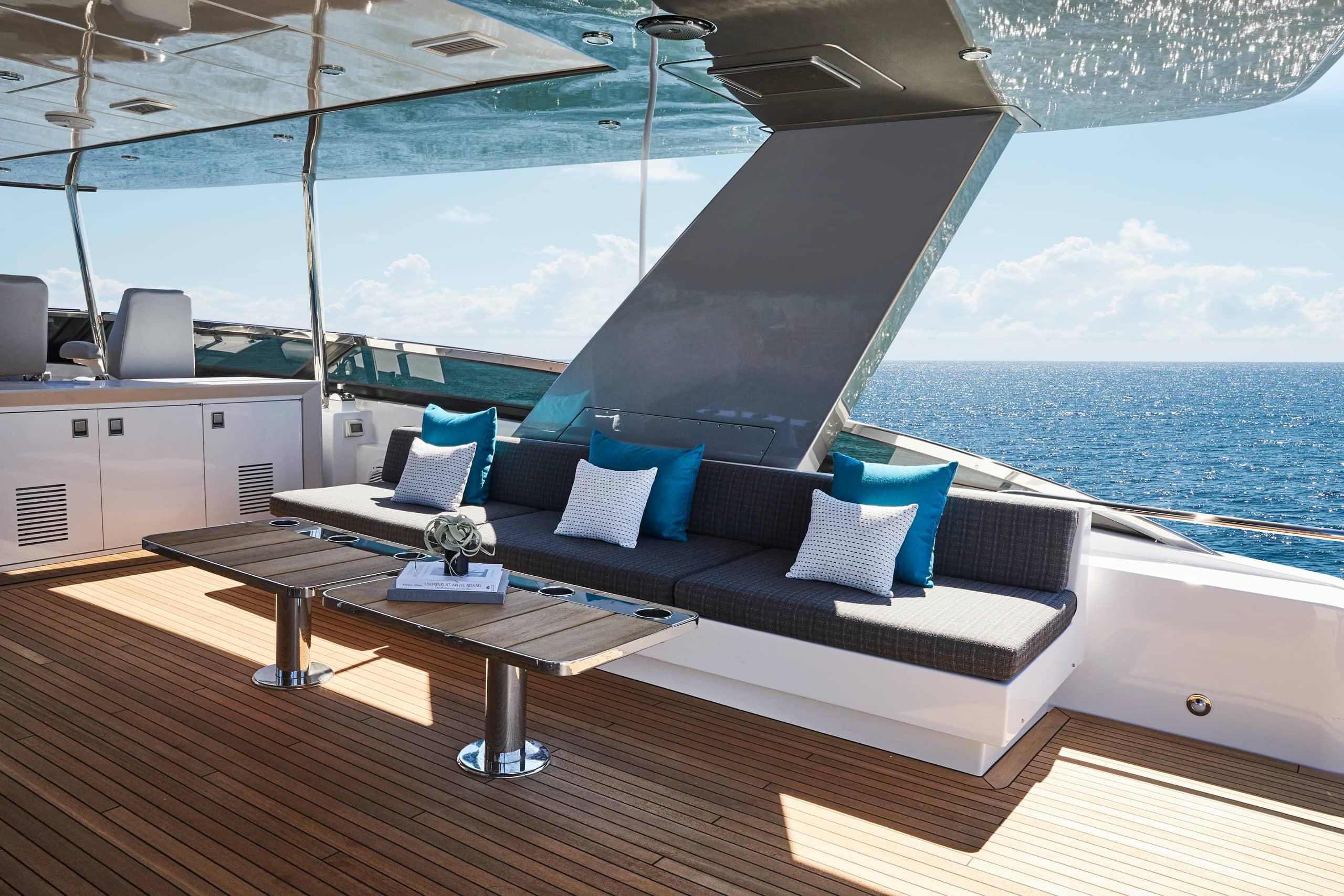 Hatteras M90 Panacera Top Deck Starboard
