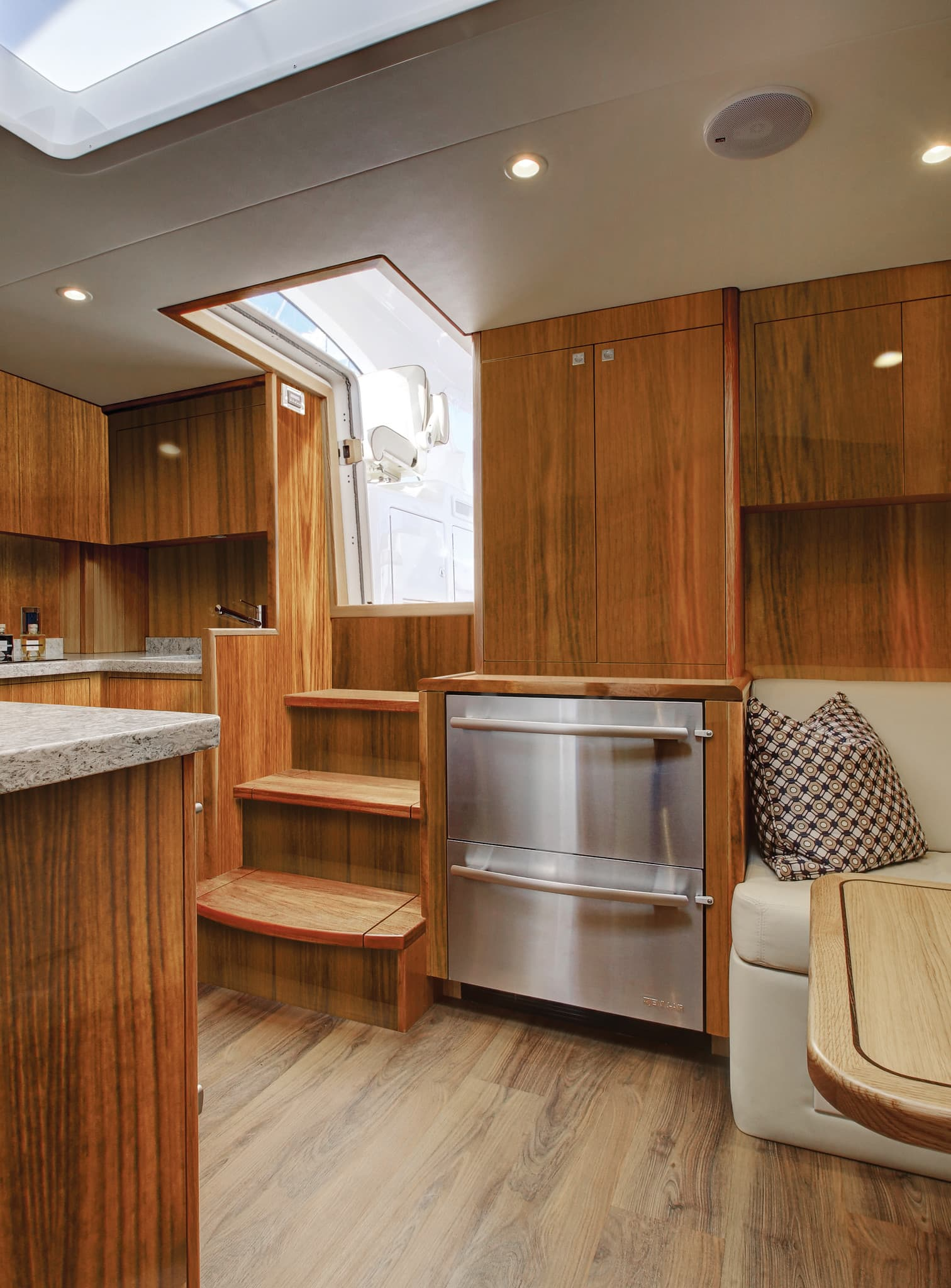 Hatteras GT45 Express Galley Area SubZeros
