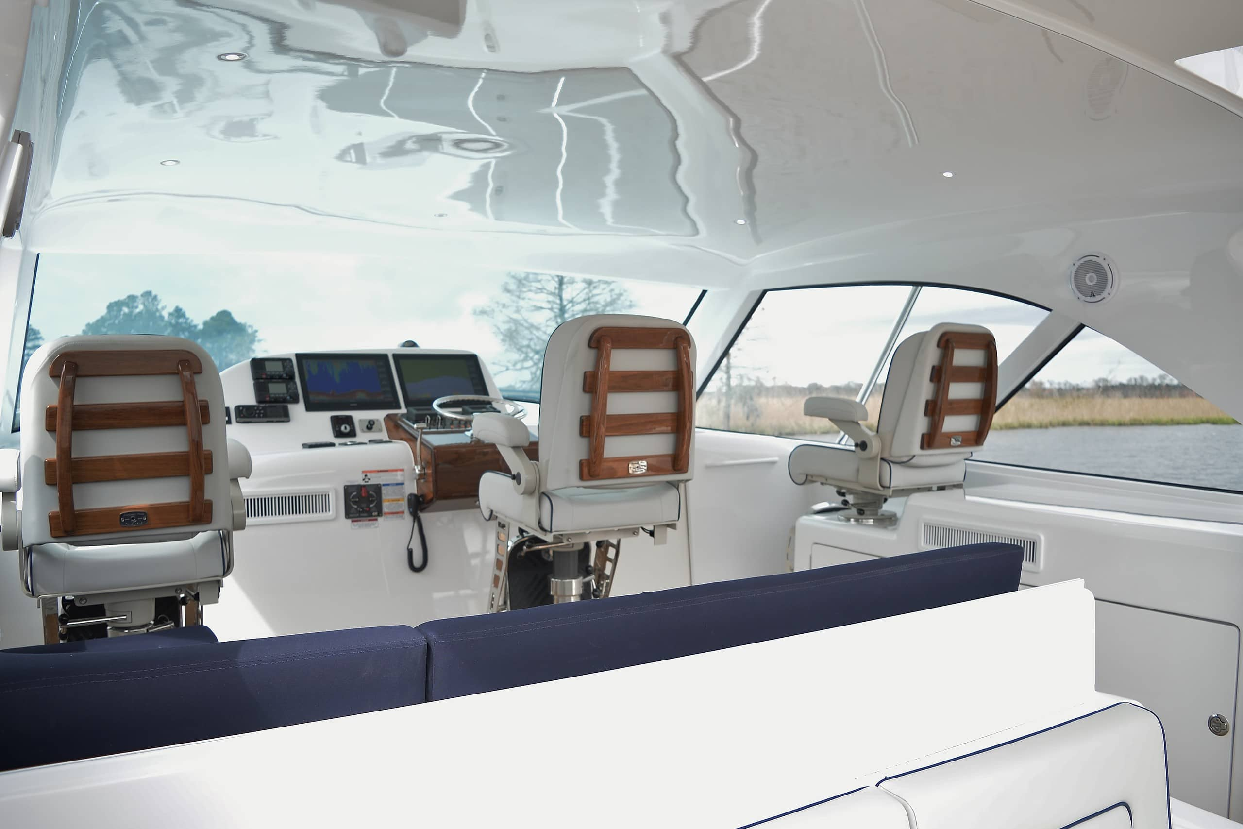 Hatteras GT45 Express Lower Deck Forward View