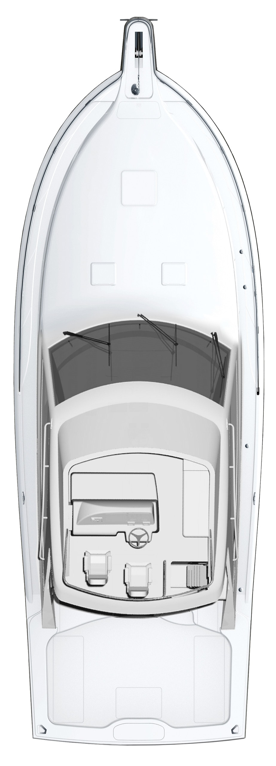 Hatteras GT45 Express Flybridge Configuration